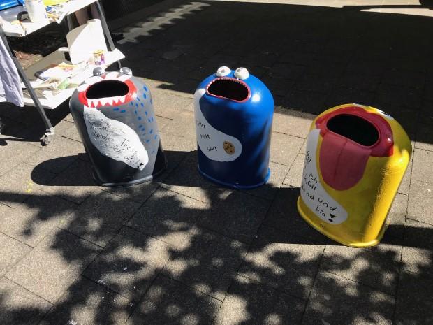 Mülleimer in neuem Style